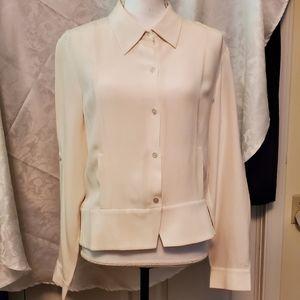 Liz Claiborne silk crepe blouse